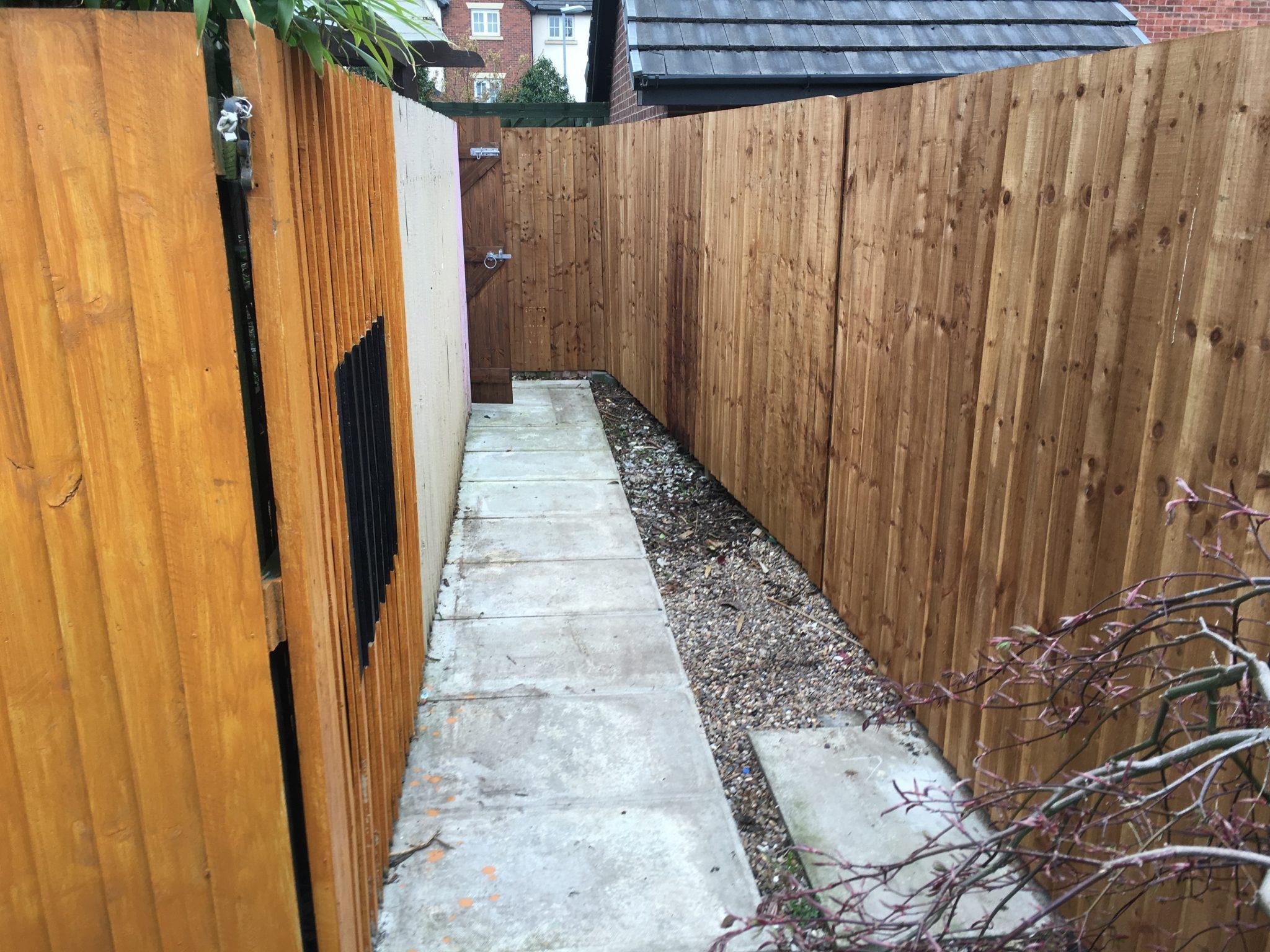 new garden fencing