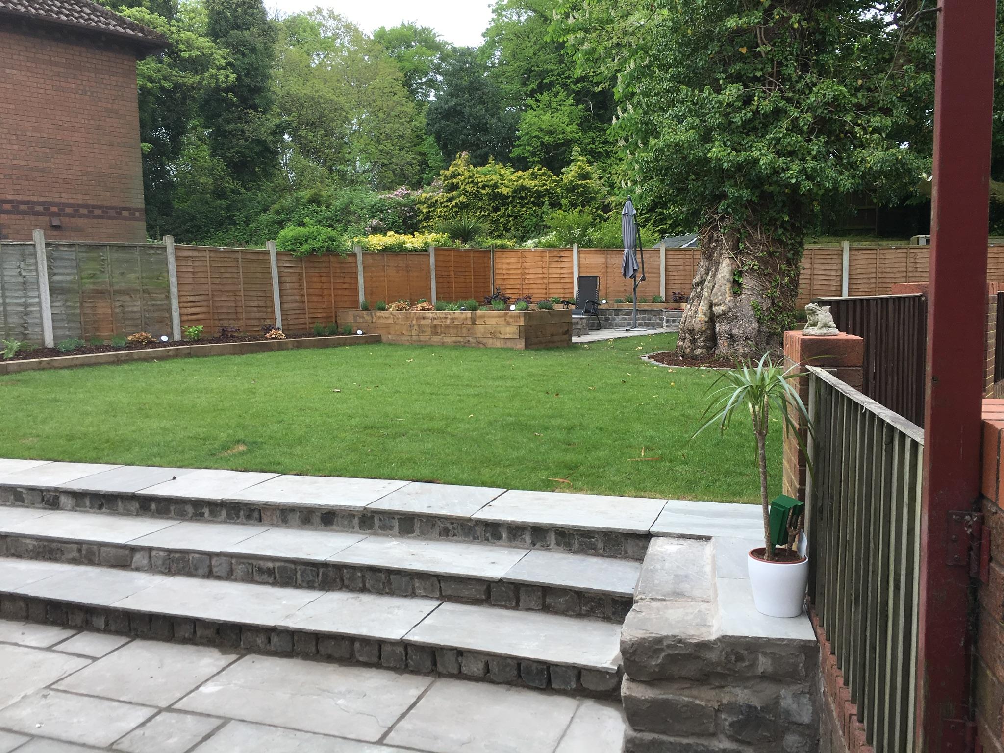 slate steps in garden