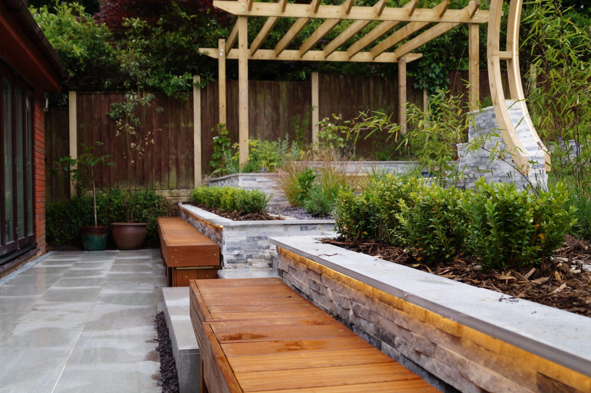 multi level landscape garden